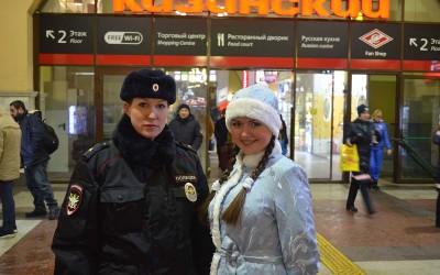 Акция «Полицейский Дед Мороз» проведена ЛУ МВД России на станции Москва-Рязанская